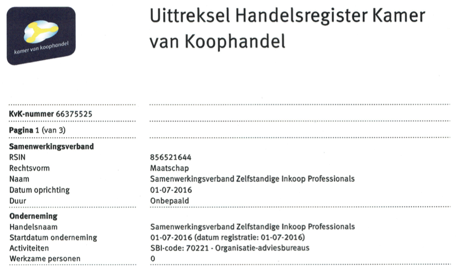 Inschrijving KvK 1-7-16
